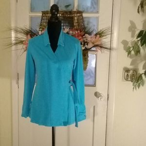 Fresh produce blue wrap top size L